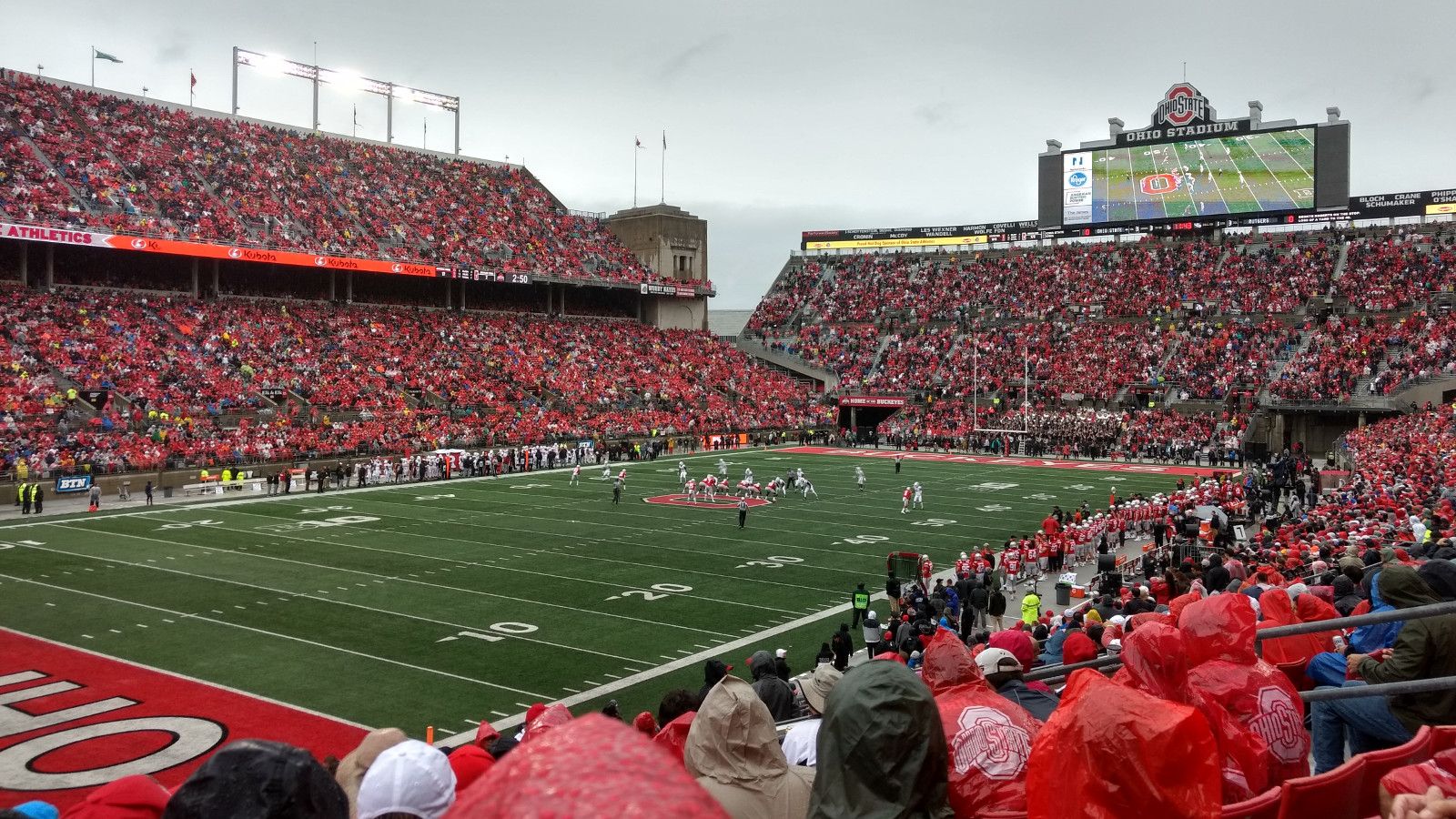 Football game in Ohio Stadium, the Buckeyes vs the Rutgers