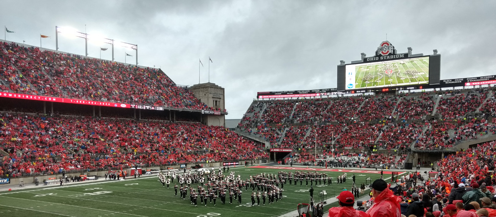 Ohio State marching band in Ohio Stadium