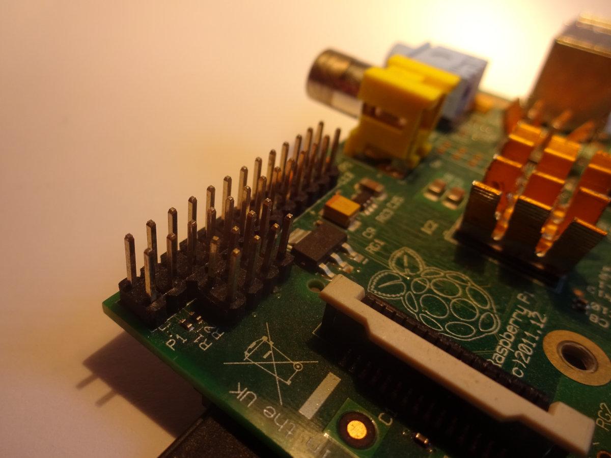Raspberry Pi mit angelöteten P5-Header