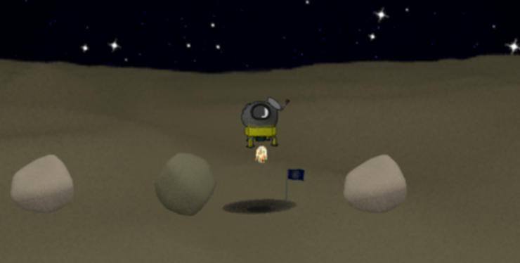 Bild des Lunar Modules kurz nach Spielstart