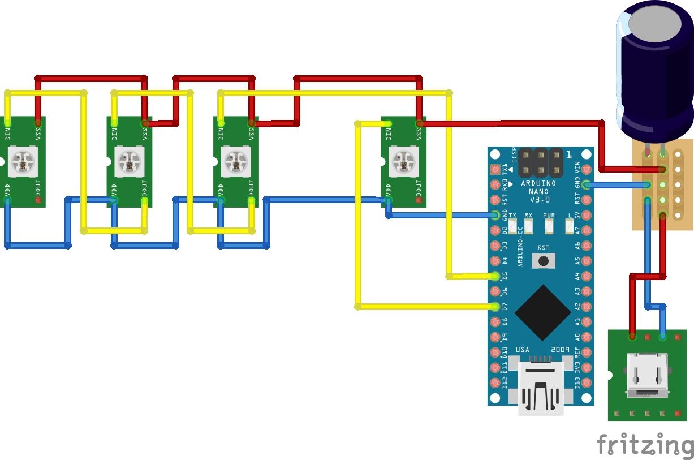 Schaltplan des LED Streifens
