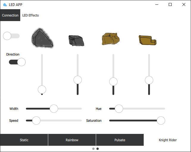 Software zur Steuerung des LED Streifens: Knight Rider Modus