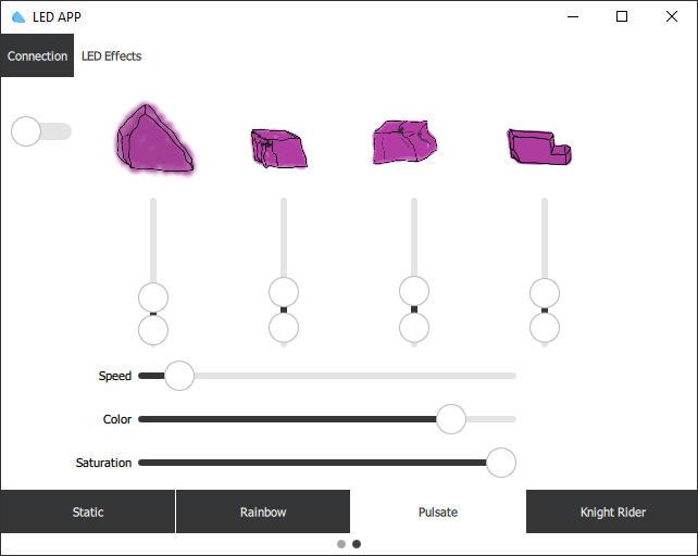 Software zur Steuerung des LED Streifens: Pulsate Modus
