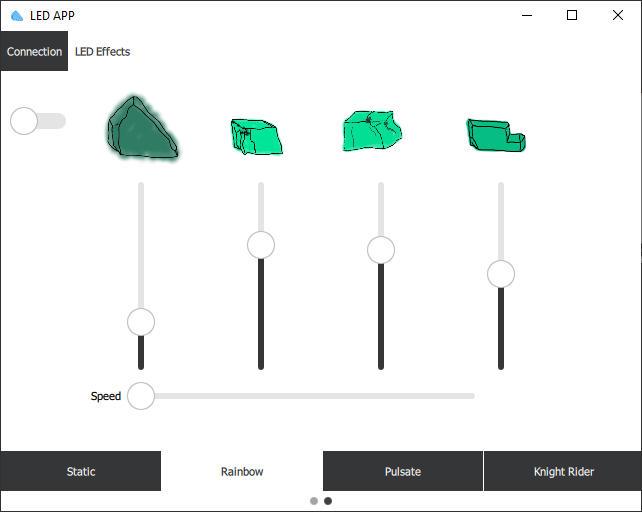 Software zur Steuerung des LED Streifens: Rainbow Modus