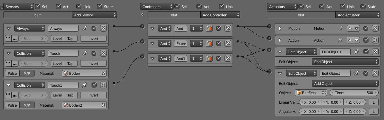 Blender Logic Editor simple logic
