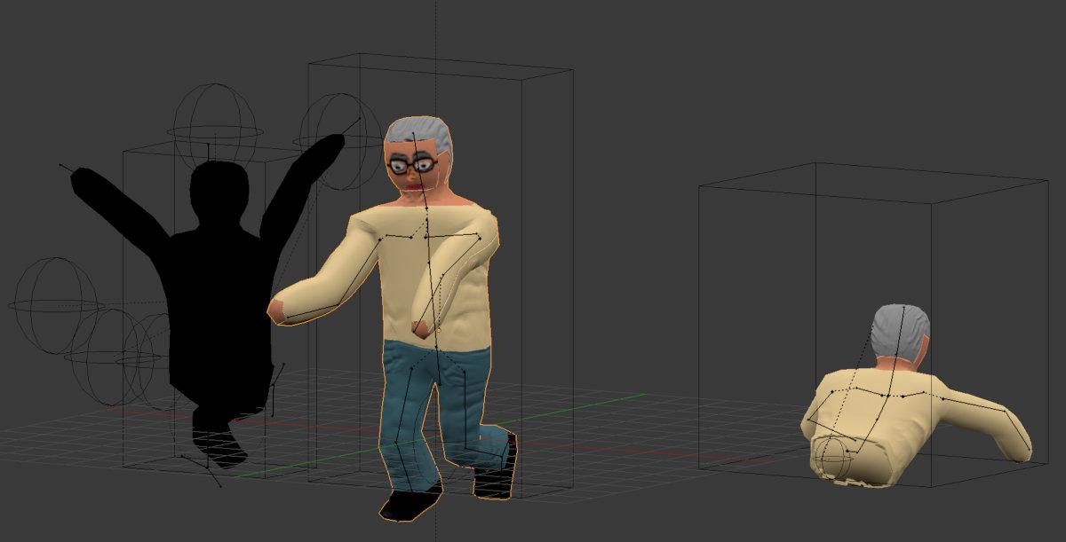 Blender Modell des Professors